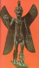 The demon Pazuzu depicted with an erect penis (ithyphallic)