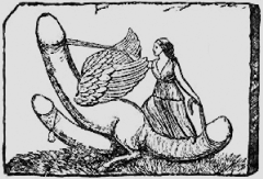 Ancient Roman depiction of a magical phallus - Fascinus