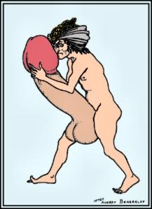 Large penis after Aubrey Beardsley