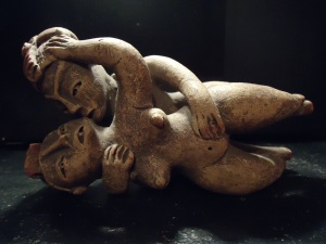 Mexican Kamasutra ceramic piece